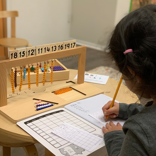 Montessori Math for younger kids