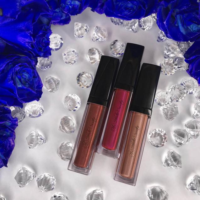 Velvet Matte Shimmer Liquid Lipsticks - Spice, Darla, Pearl