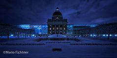Nachtaufnahme von München im Winter