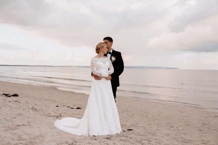 Brautpaar am Strand, Kurhaus Binz