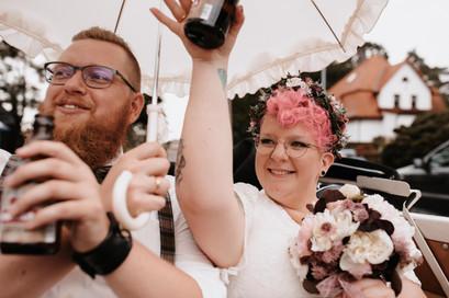 Brautpaar im Trabbi Zinnowitz