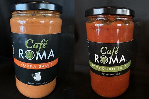Vodka Sauce (1) + Pomodoro Sauce (1) - Cafe Roma Official Sauce