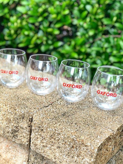 Oxford Stemless Wine Glass SET - Shatterproof!