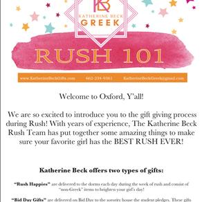 Rush 101: Katherine Beck Gifts