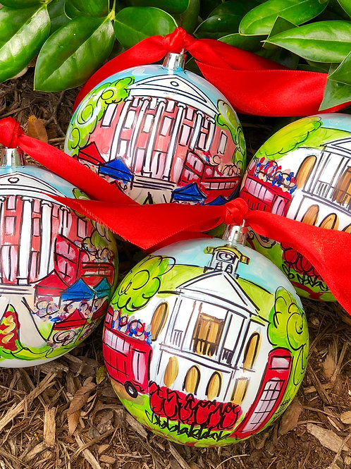 Lyceum or Courthouse Hand-painted Ornament