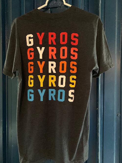 Rainbow Lettering Gyro Crew Neck