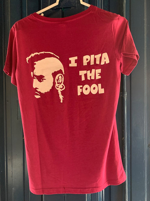Pita the Fool Pink V-neck - Womens