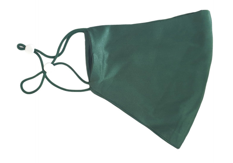100% pure silk mask green