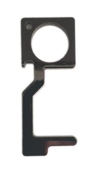 black metal  non contact safety tool with bottle opener
