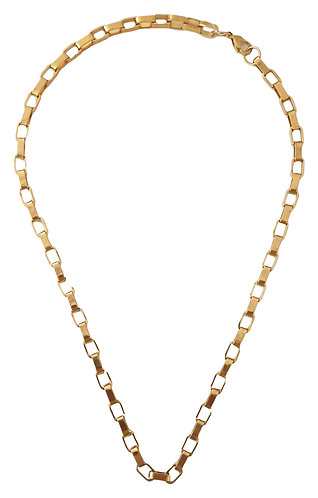 171n stainless steel kube chain necklace 53cm lenght
