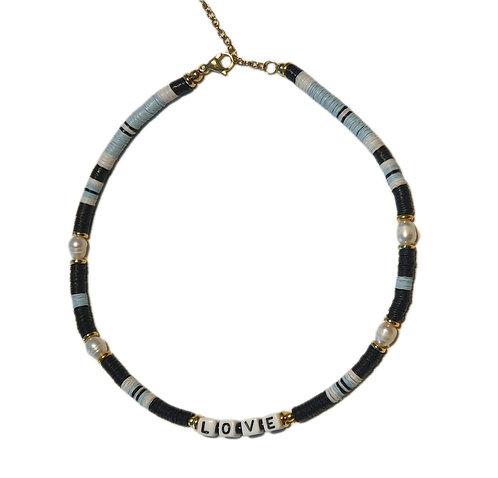 love black blue necklace