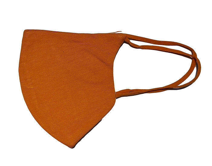 orange cotton mask shield design
