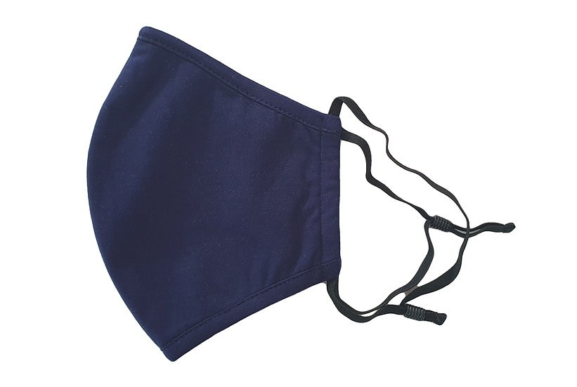 dark blue matt fashion mask
