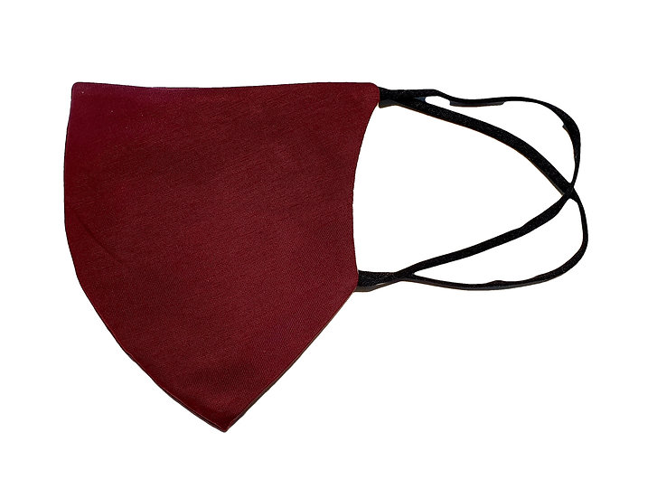 red whine color satin mask