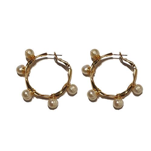 7e big hoop pearl earrings