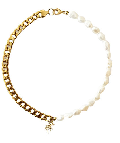 105n big chain pearl palm necklace