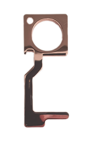 rose gold metal non contact safety tool bottle opener