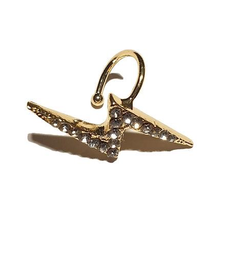 53e lightening gold plated stud earring