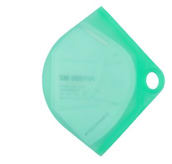green silicon mask case