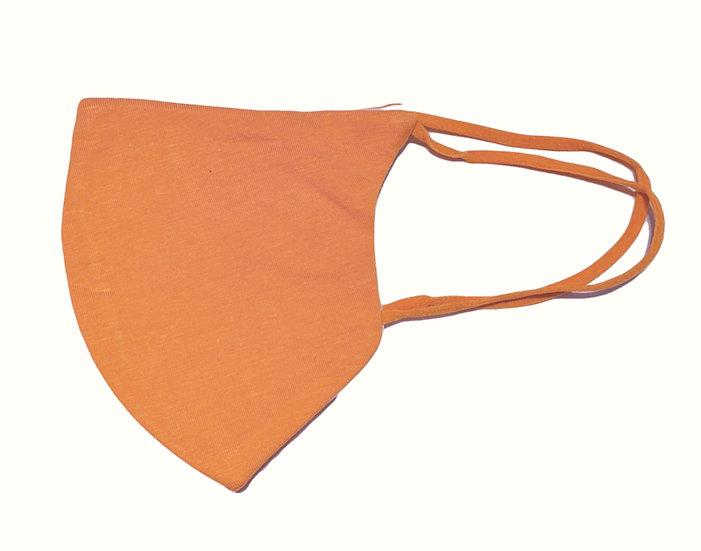 orange cotton mask, shield design