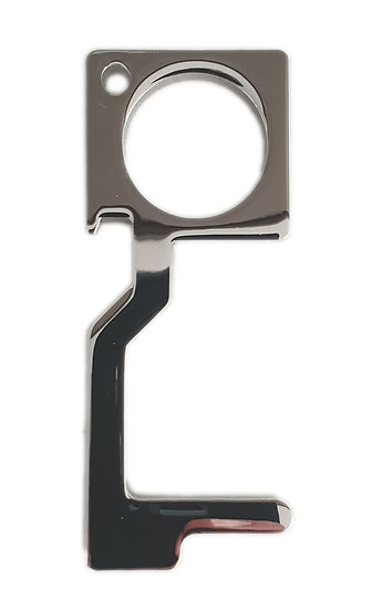 silver metal non contact safety tool bottle opener