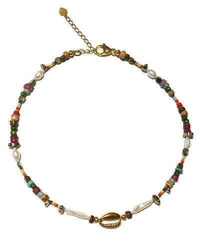 115n boho shell ssteel necklace