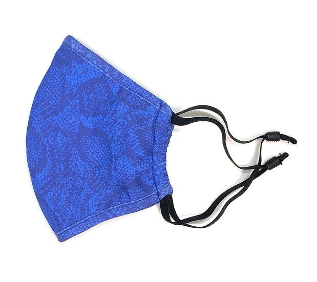 electric blue design mask