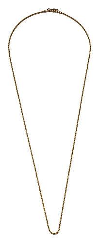 165n sstel twist necklace 60 cm lenght