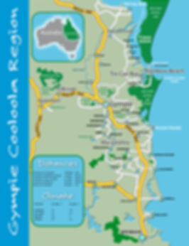 Location map for Tin Can Bay Sandcastle Motel