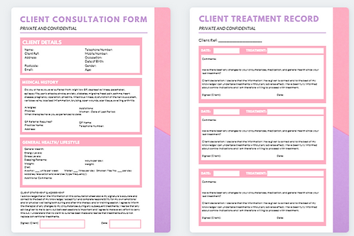 Client Consultation Form and Treatment Record (9)