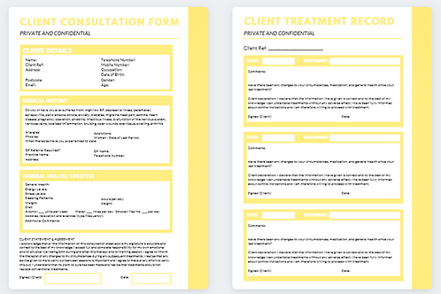 Client Consultation Form and Treatment Record (6)
