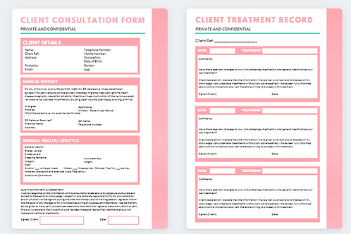 Client Consultation and Treatment Record 2