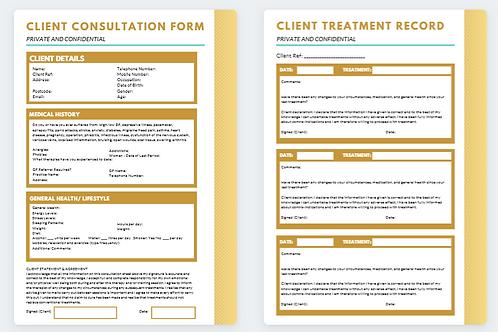 Client Consultation & Treatment Record 3