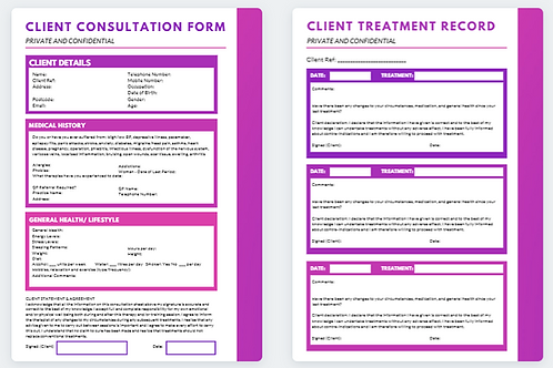 Client Consultation Form and Treatment Record (4)