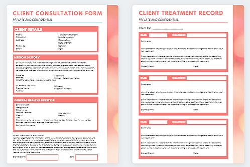 Client Consultation Form and Treatment Record (8)