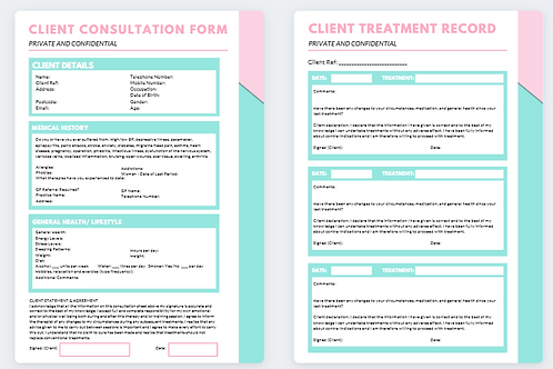 Client Consultation Form and Treatment Record (10)