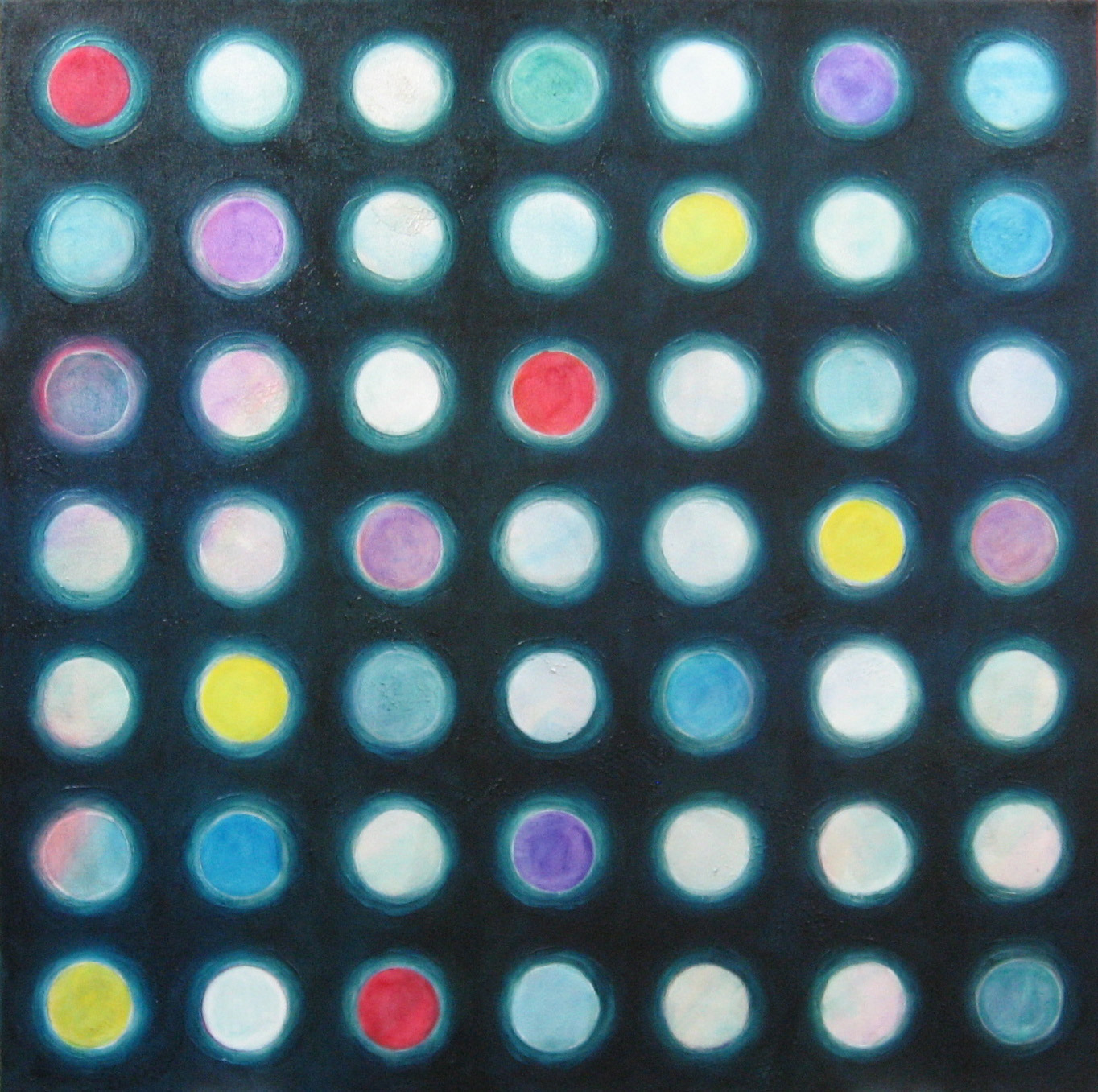 Etude circles oil painting