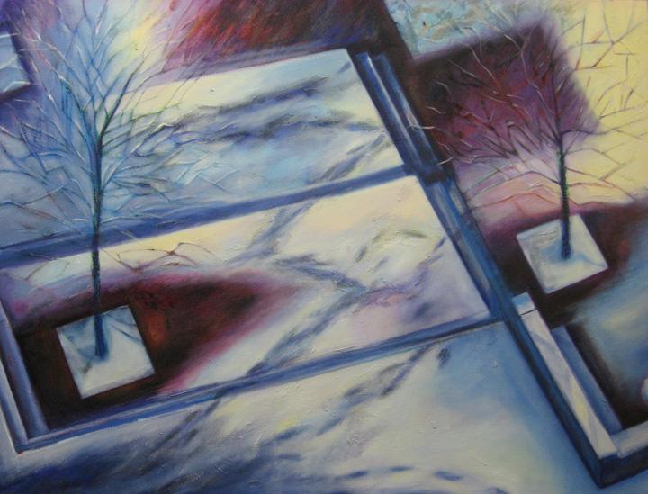 Ice Storm landscape painting