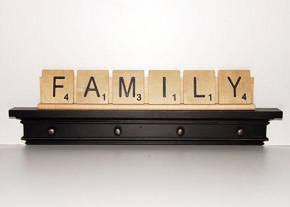 Scrabble Rack (for 6 large scrabble letter tiles)