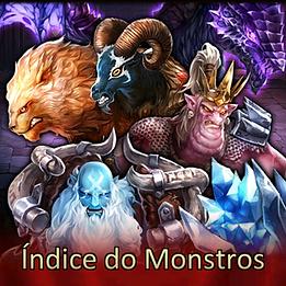 Índice de Monstros