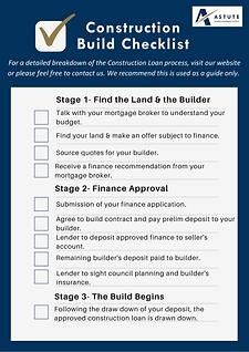 Construction finance checklist