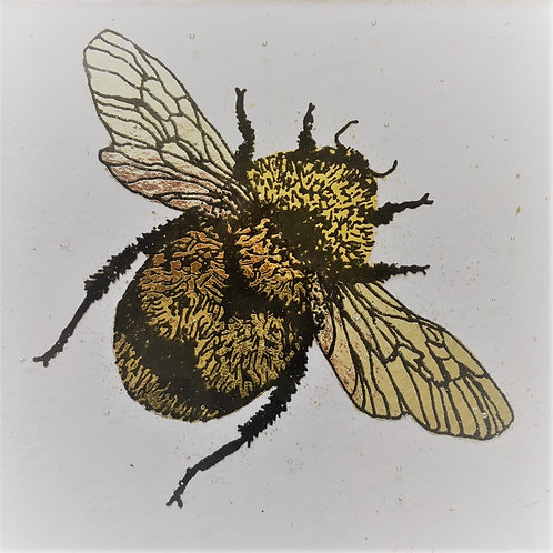 Gilded Bee, 22ct gold carat coaster