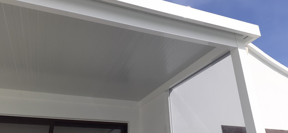 White T&G style insulation boarding