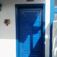 Many paneled door