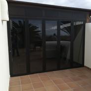 Concertina doors.