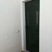 Two paneled door