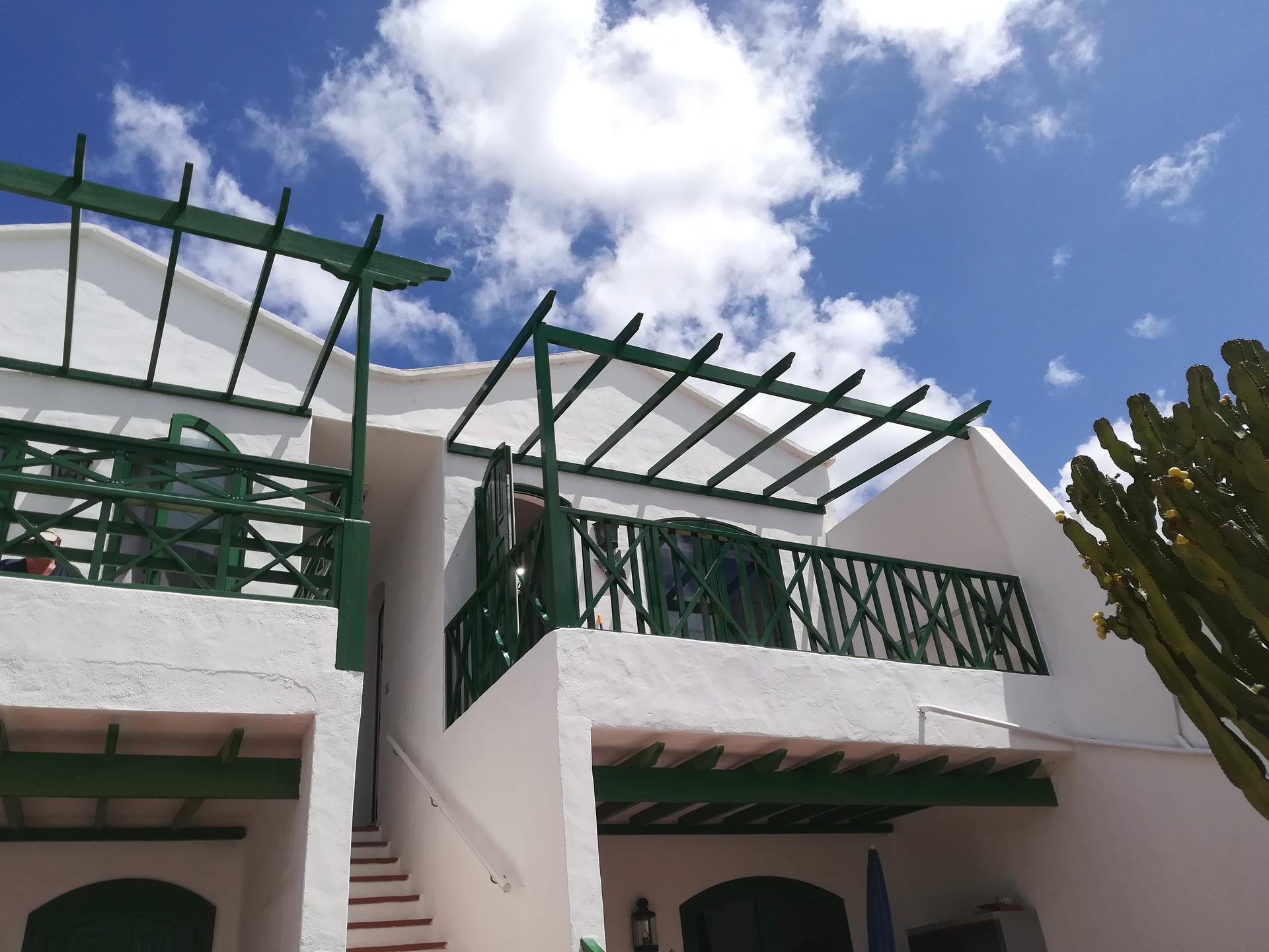 Green pergola structure