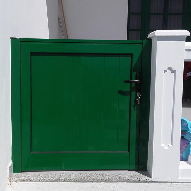Green gate.