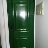 Front door. Green