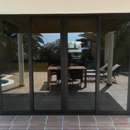 Four part sliding door system